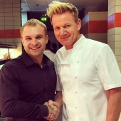 Miroslav and Gordon Ramsay - Michelin starred Chef